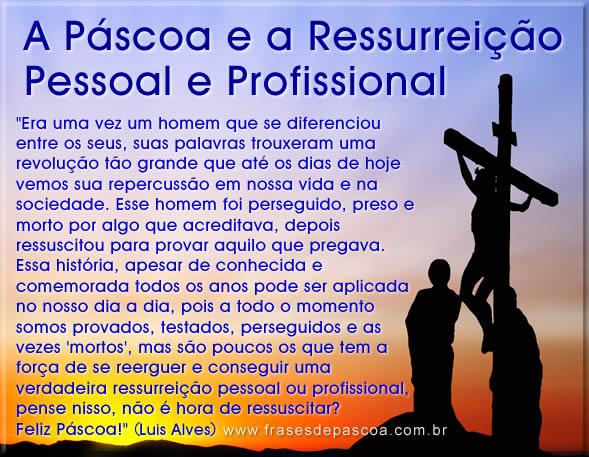 Páscoa para Facebook, mensagem ressurreição pessoal e profissional