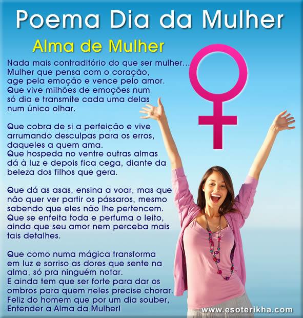 Poemas dia da Mulher