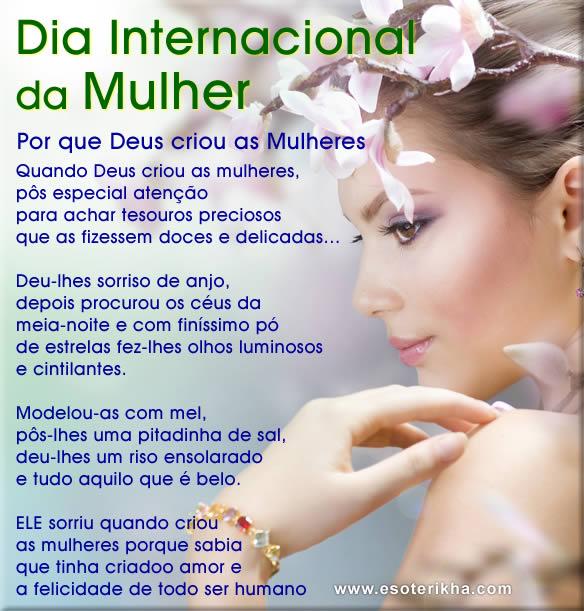 Poemas dia Internacional da Mulher