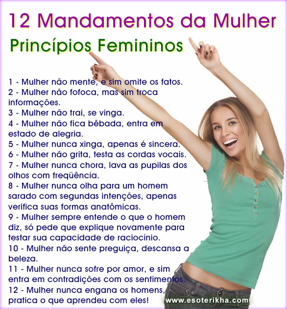 principios femininos, os 12 mandamentos da mulher